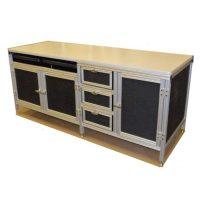 Custom-Aluminum-Desk-With-Storage