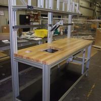 aluminum-t-slot-workstation-wood-top