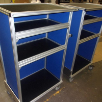 rolling-t-slot-carts-blue