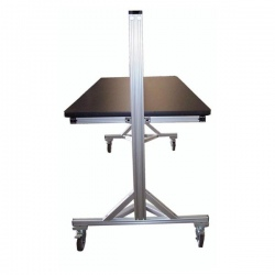 Aluminum-Two-Sided-Mobile-Table