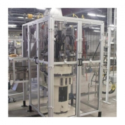 Machine-Guarding-With-Wire-Mesh-and-Lexan-Panels