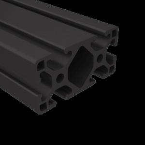 "E1530LS-BA 1.5"" x 3"" LITE BLACK ANODIZED T-SLOT"