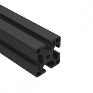 E40-4040L-BA 40mm x 40mm LITE Black Anodized