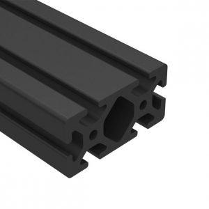 E40-4080 40MM X 80MM SLOT 10 BLACK ANODIZED
