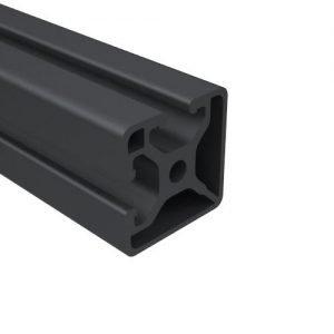E1502S-BA BLACK ANODIZED BI-SLOT T-SLOT
