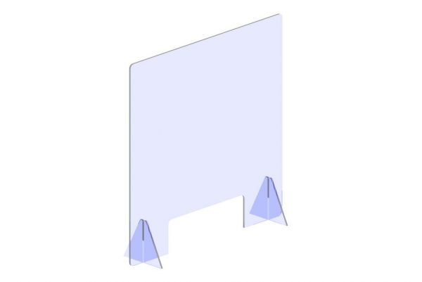 economy plastic barrier with cutout