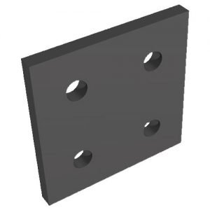 black 4 hole joining plate