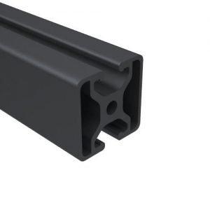 E1504S-BA BLACK ANODIZED BI SLOT OPPOSITE T-SLOT
