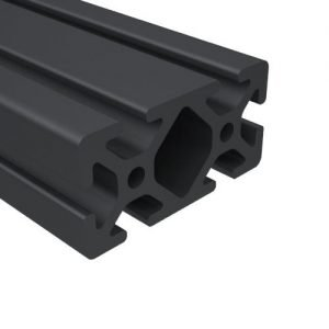 "E1530S-BA 1.5"" x 3"" BLACK ANODIZED T-SLOT"