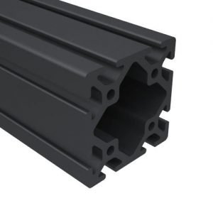 "E3030S-BA 3"" x 3"" BLACK ANODIZED T-SLOT"