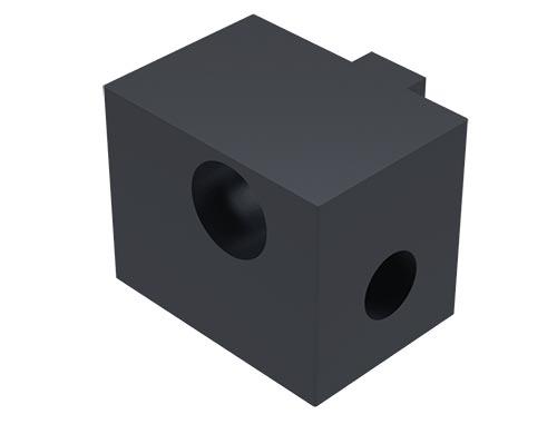 Black Panel Mount Block