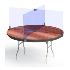 Round Table Sneeze Cough Barriers