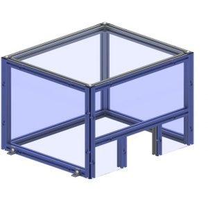 table top enclosure machine