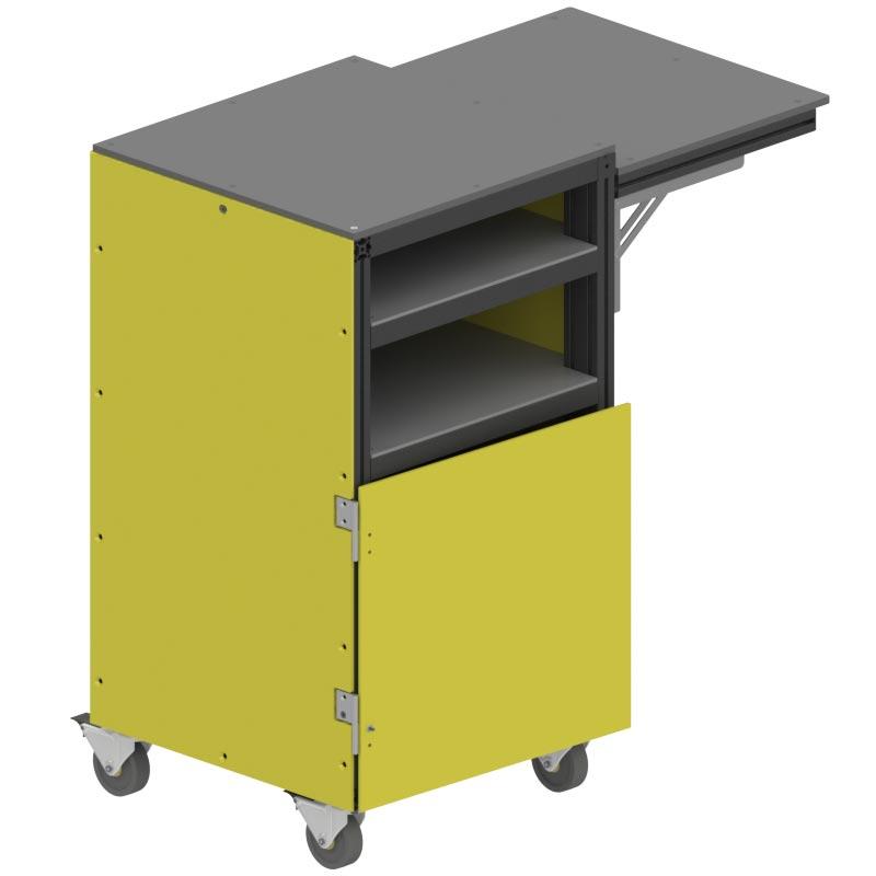 aluminum hdpe mobile storage cart