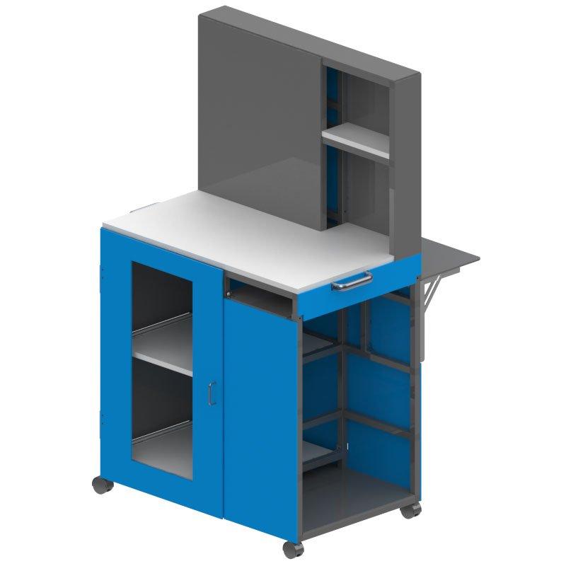 Heavy Duty Aluminum Laboratory Cart