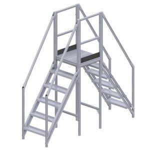 "aluminum stair platform 50"""