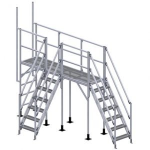 OSHA stair crossover platform