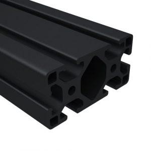 40 series black anodized t-slot aluminum